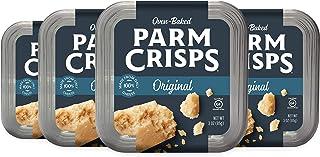 ParmCrisps Original Parmesan Cheese Crisps, 3 oz (Pack of 4), Keto Gluten Free Snacks, 100% Cheese Crisps, Gluten Free, Su...