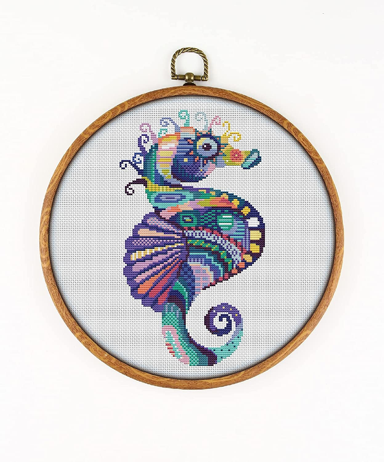 Mandala Seahorse K472 Challenge the lowest SALENEW very popular! price of Japan Counted Cross KIT#3. Threads Needl Stitch