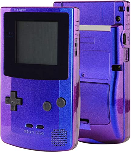 eXtremeRate Chameleon Purple Blue GBC Replacement Full Housing Shell Cover w/Buttons Screws Screwdriver Tools Set for...