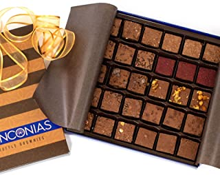 Danconias Truffle Brownies with Assorted Flavors, 30 PC Gift Box, Chocolate Expedition Basket Set of Gourmet Baked Goods, ...
