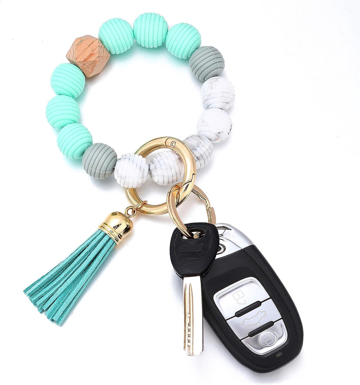Wristlet Keychains Bracelet Bangle for Women   Key Ring Chain Bracelet   No BPA Silicone