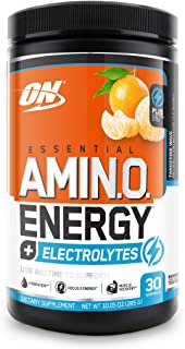 Optimum Nutrition Amino Energy + Electrolytes - Pre Workout, BCAAs, Amino Acids, Keto Friendly, Energy Powder - Tangerine ...