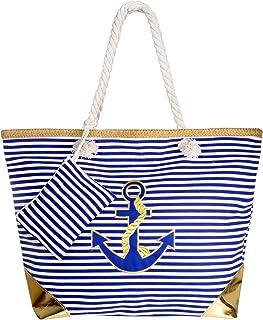 Comius Große Strand Segeltuch Reise Einkaufstasche, Damen Shopping Shopper Tasche Reisetasche Canvas Schultertasche - perfekte Einkaufstasche Für Feiertage