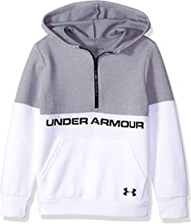 low priced 9a375 0aa99 Under Armour Boys Double Knit 1 2 Zip Hoodie