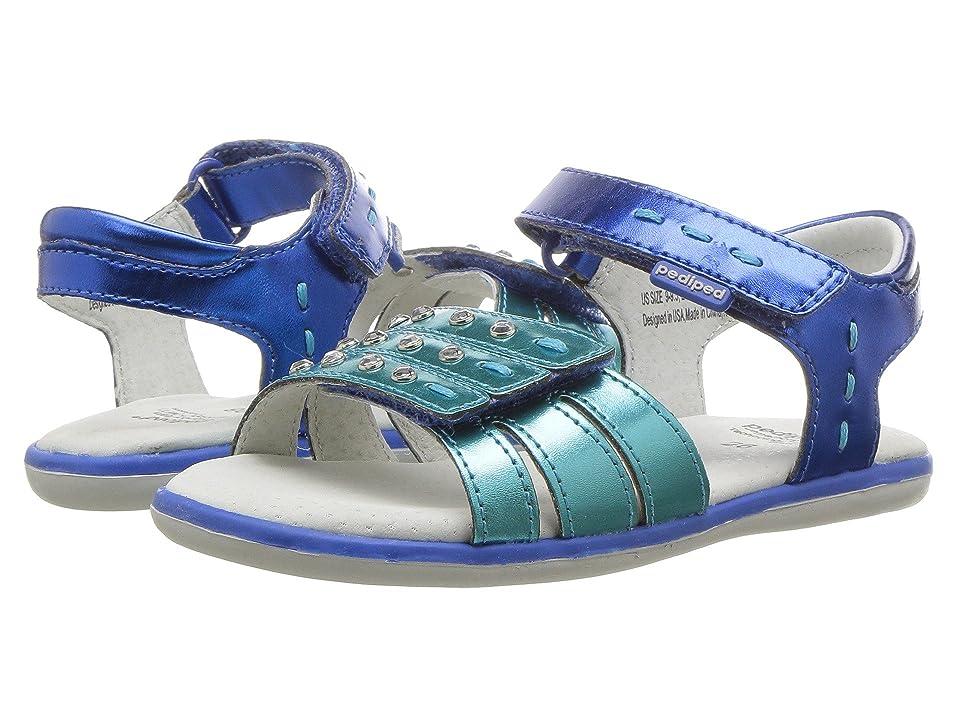pediped Lynn Flex (Toddler/Little Kid) (Ocean) Girls Shoes