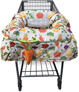 Boppy Shopping Cart and High Chair Cover | 2-Point Safety Belt | Wipeable, Machine Washable | 6-48 months | Multi-Color Fa...