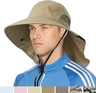 SUN CUBE Premium Outdoor Sun Hat with Neck Flap Wide Brim, UPF 50+ Sun Protection, Adjustable Size, Unisex