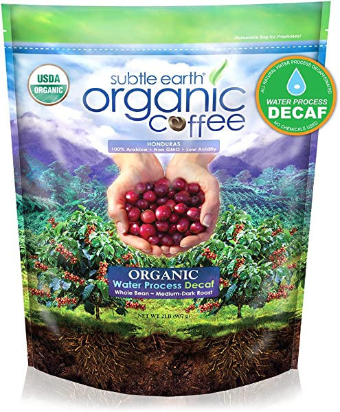 Cafe Don Pablo 2LB Subtle Earth Organic Swiss Water Process Decaf Medium Dark Roast Whole Bean Coffee USDA Certified Organic 2 Pound