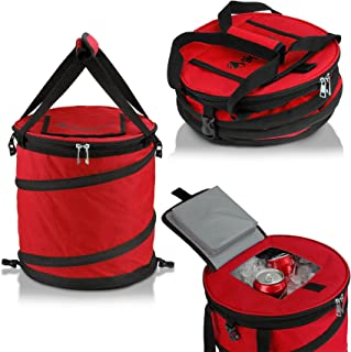 GigaTent 24 Can Pop Up Cooler - Lightweight Insulated Picnic Collapsible Bag - Pops Open Waterproof Portable Folding Outdoor Organizer For Camping Travel Picnics Hiking and More