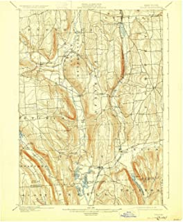 YellowMaps Tully NY topo map, 1:62500 Scale, 15 X 15 Minute, Historical, 1900, Updated 1927, 20.2 x 16.6 in
