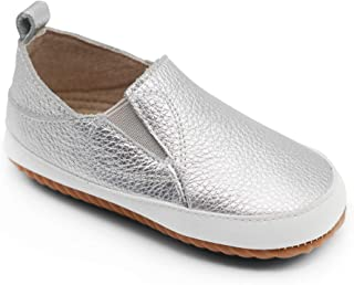 Dotty Fish Leather Infant Slip-on Shoes. First Walkers.