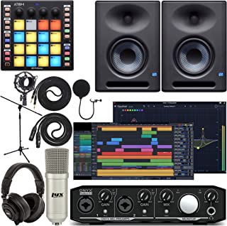 Mackie Onyx Producer 2-2 Audio/Midi interface Kit with Pro Tools First Software, ATOM Midi Production Pad Controller, Eris...