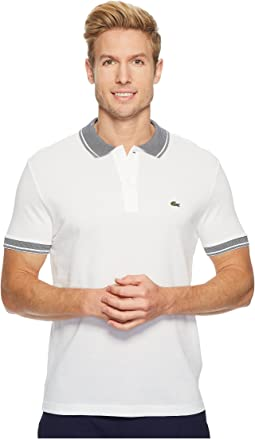 Lacoste - Short Sleeve Petit Pique Collar/Sleeve Contrast Regular