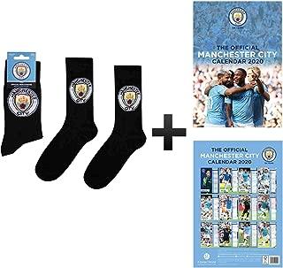 Manchester City Official 2020 Calendar & Socks Gift Set
