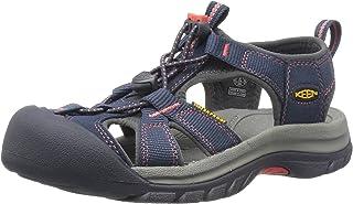 Keen Venice H2 Womens Sandals 6 B(M) US Women Midnight Navy Hot Coral
