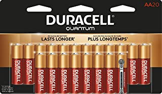 Duracell Quantum AA Alkaline Batteries - Long Lasting, All-Purpose Double A battery for Household and Business - 20 count
