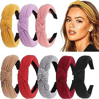 DRESHOW 10 Pack Women Headband Boho Floal Style Criss Cross Head Wrap Hair Band