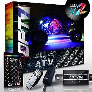 OPT7 10pc Aura ATV UTV Underbody Glow LED Lighting Kit   Multi-Color Accent Neon Strips w/Switch(Double Row)