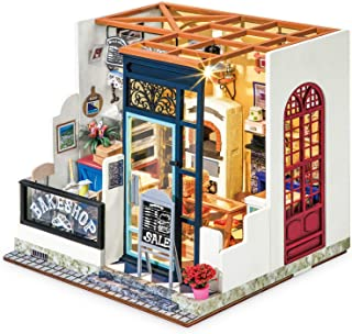 Rolife DIY Miniature Dollhouse Kit 1:24 Scale Model Bakery Diorama Gifts for Adults(Nancy's Bake Shop)