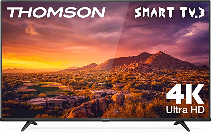 TALLA 50 pulgadas. THOMSON 50UG6300 - Televisor LED de 50 pulgadas, Smart TV con 4K UHD, Dolby Audio, Compatible con Alexa