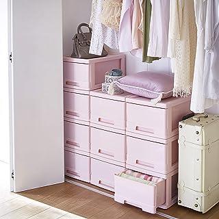 生活雑貨 収納ケース 収納ボックス 衣類収納 収納 収納ボックス 完成品 幅34.5×奥行47×高24cm ピンク 6個セット 【大型】