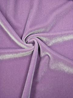 Solid Polyester Spandex Velvet 2 ways Stretch Medium Weight Fabric-By the yard (Lilac)