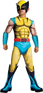 Rubie's Marvel Classic Universe Child's Deluxe Muscle-Chest Wolverine Costume, Large