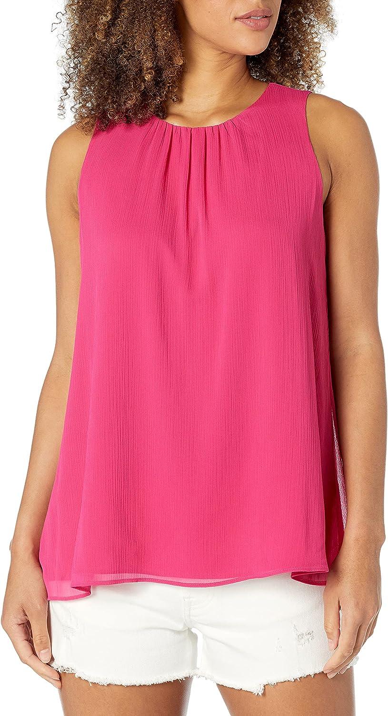 Calvin Klein Popularity Women's Sleeveless Pleat Front Max 41% OFF Blouse