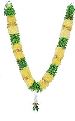 Daedal crafters Artificial Roses with Garland (Yellow)