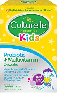 Culturelle Kids Probiotic plus Complete Multivitamin Chewable | Digestive and Immune Support*| Contains Vitamins C and Zin...