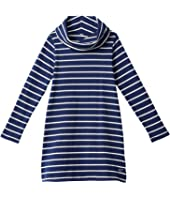 Stripe Cowl Neck Dress (Toddler/Little Kids/Big Kids)