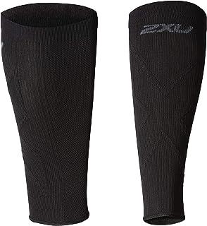 2XU Unisex X Compression Calf Sleeves, Black/Black
