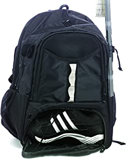 Athletico Youth Lacrosse Bag - Extra Large Lacrosse Backpack - Holds All Lacrosse or Field Hockey Equipment - Two Stick Ho...