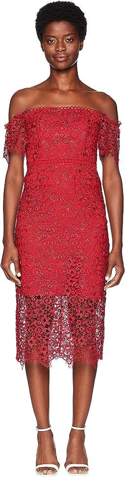 Off Shoulder Lace Cocktail Dress