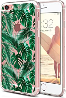 iPhone 6S Case, iPhone 6 Phone Cover,ROOEL [Tropical Palm Leaves Artwork Pattern] Slim Soft Protective TPU Bumper Frame Hard Clear Transparent Acrylic PC Plastic Back for Apple iPhone 6/6S