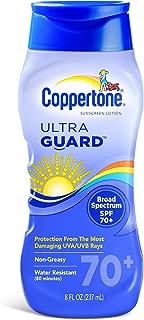 Coppertone Ultraguard Sunscreen Lotion, SPF 70+, 8-Ounce Bottles (Pack of 2)