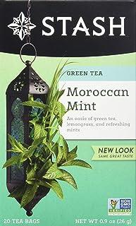 Stash Tea Moroccan Mint Green Tea 20 Count Box of Tea Bags in Foil (Pack of 6)