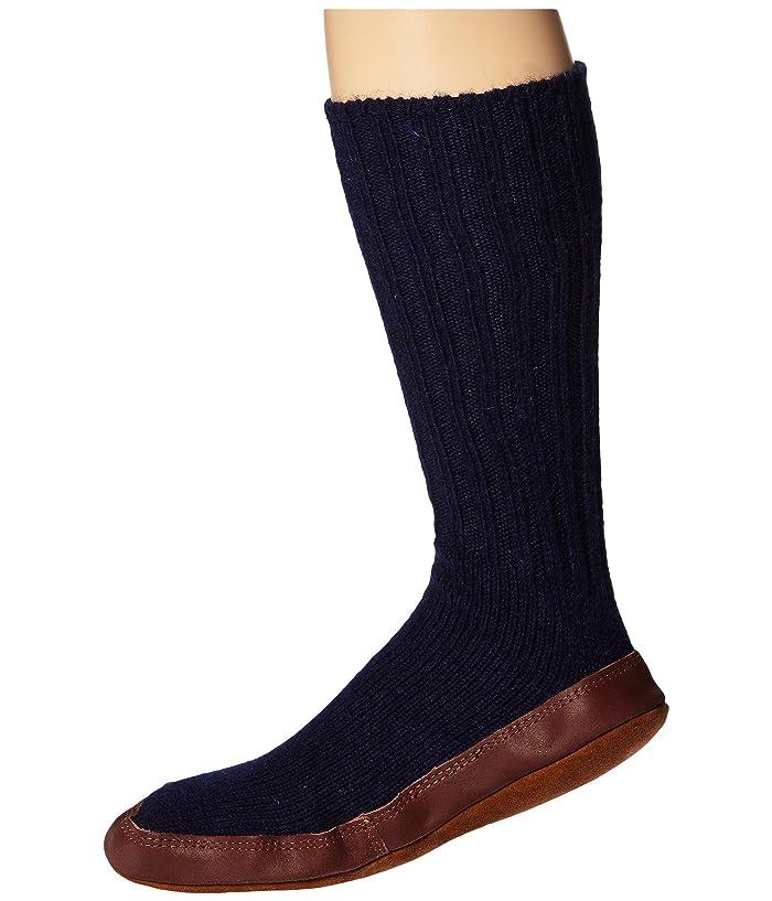 Acorn  Slipper Sock (Cobalt Ragg Wool) Shoes