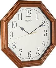 ساعة حائط بحافظة خشبية مع يد سويب هادئة من سيكو، QXA529BL