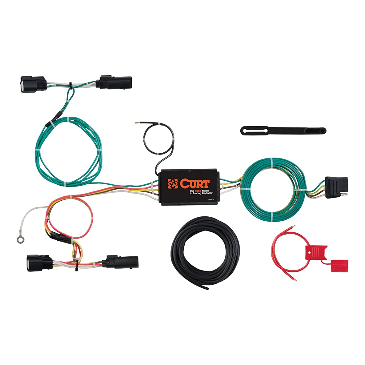 CURT 56273 Vehicle-Side Custom 4-Pin Trailer Wiring Harness for Select Ford Focus