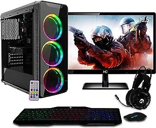 "PC Gamer EasyPC Completo Monitor LED 19.5"" AMD Quad Core Ryzen 3 2200G 3.7ghz 8GB (Radeon Vega 8 Graphics) 1TB Mouse Tecla..."