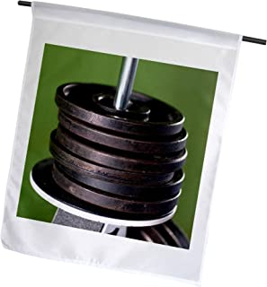 3dRose Close-Up of Gym Weightlifting Equipment. - Garden Flag, 12 by 18""