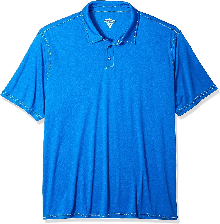 Charles River Apparel Men's Wellesley Polo Shirt, Royal, 5XL