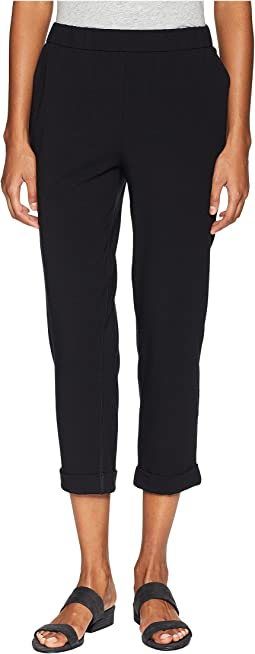 Organic Cotton Stretch Jersey Slim Cropped Pants