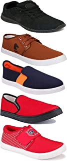 WORLD WEAR FOOTWEAR Sports Running Shoes/Casual/Sneakers/Loafers Shoes for Men Multicolor (Combo-(5)-1219-1221-1140-383-1138)