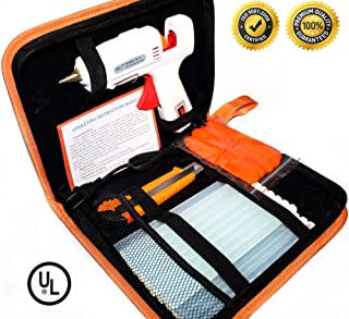 Hot Melt Glue Gun Kit 60W/100W with Carry Bag and 20 pcs Glue Sticks, for DIY, Arts &..