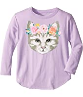 Chaser Kids - Long Sleeve Super Soft Cat Crown Tee (Toddler/Little Kids)