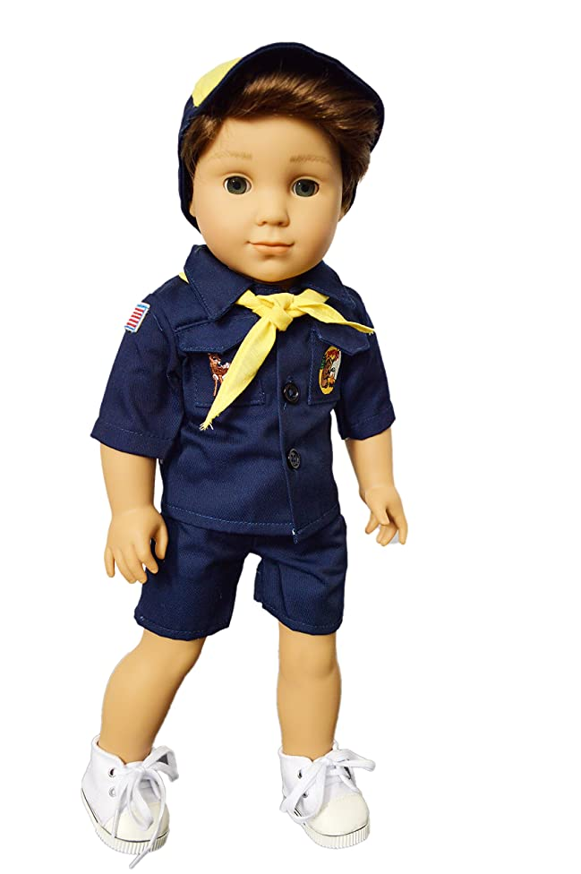 Brittany's My Cub Scouts Uniform with Embroidered Patches Compatible with American Girl Boy Dolls- 18 Inch Boy Doll Clothes