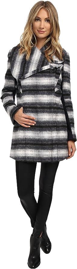 Novelty Wool Asymmetrical Clip Coat