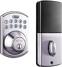 Tacklife Keypad Electronic Deadbolt Door Lock, Keyless Entry Door Lock with 1-Touch Motorized Auto-Locking, Easy to Install for Locker, Office & Home, Satin Nickel-EKPL1A